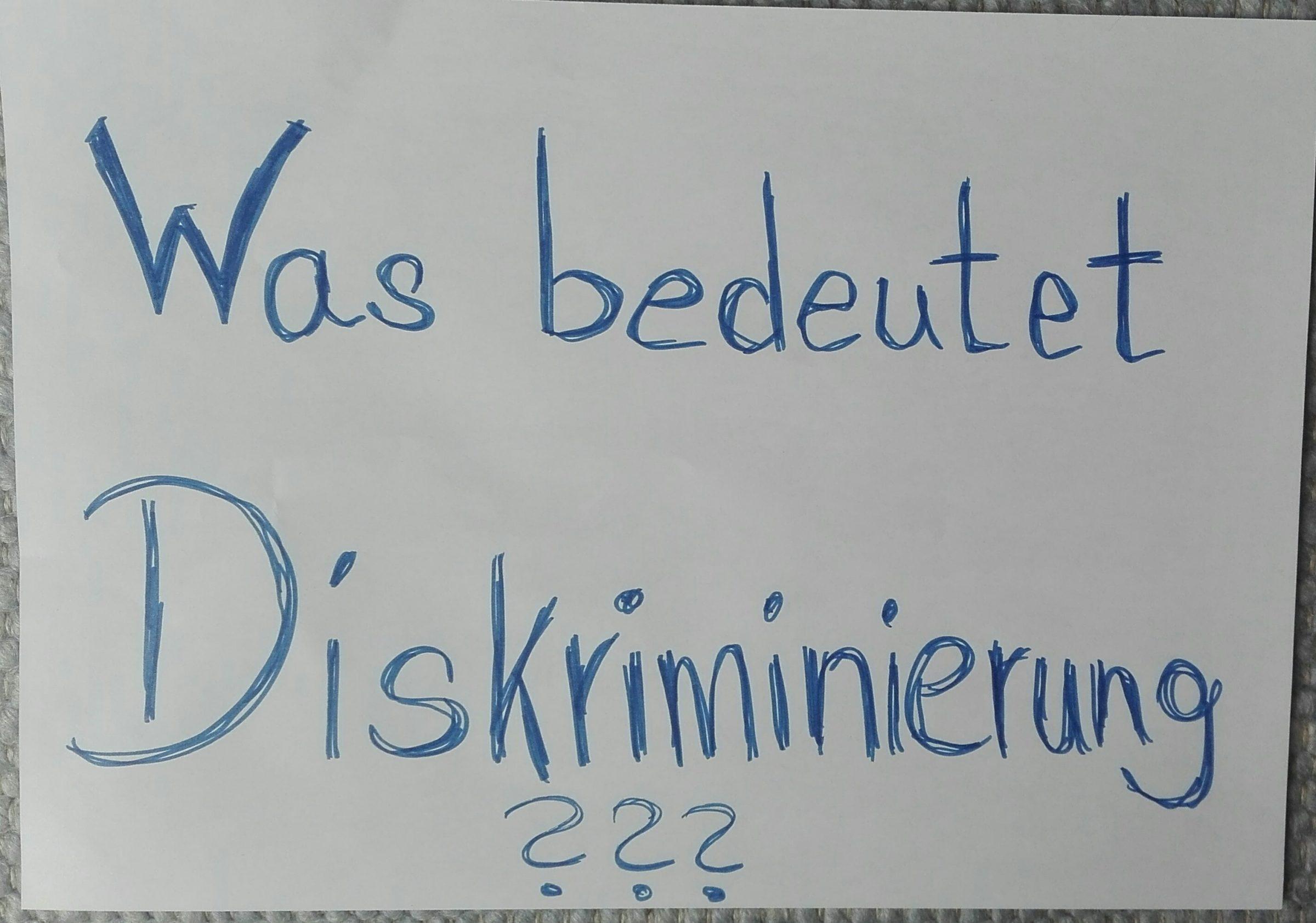 Thema: Diskriminierung